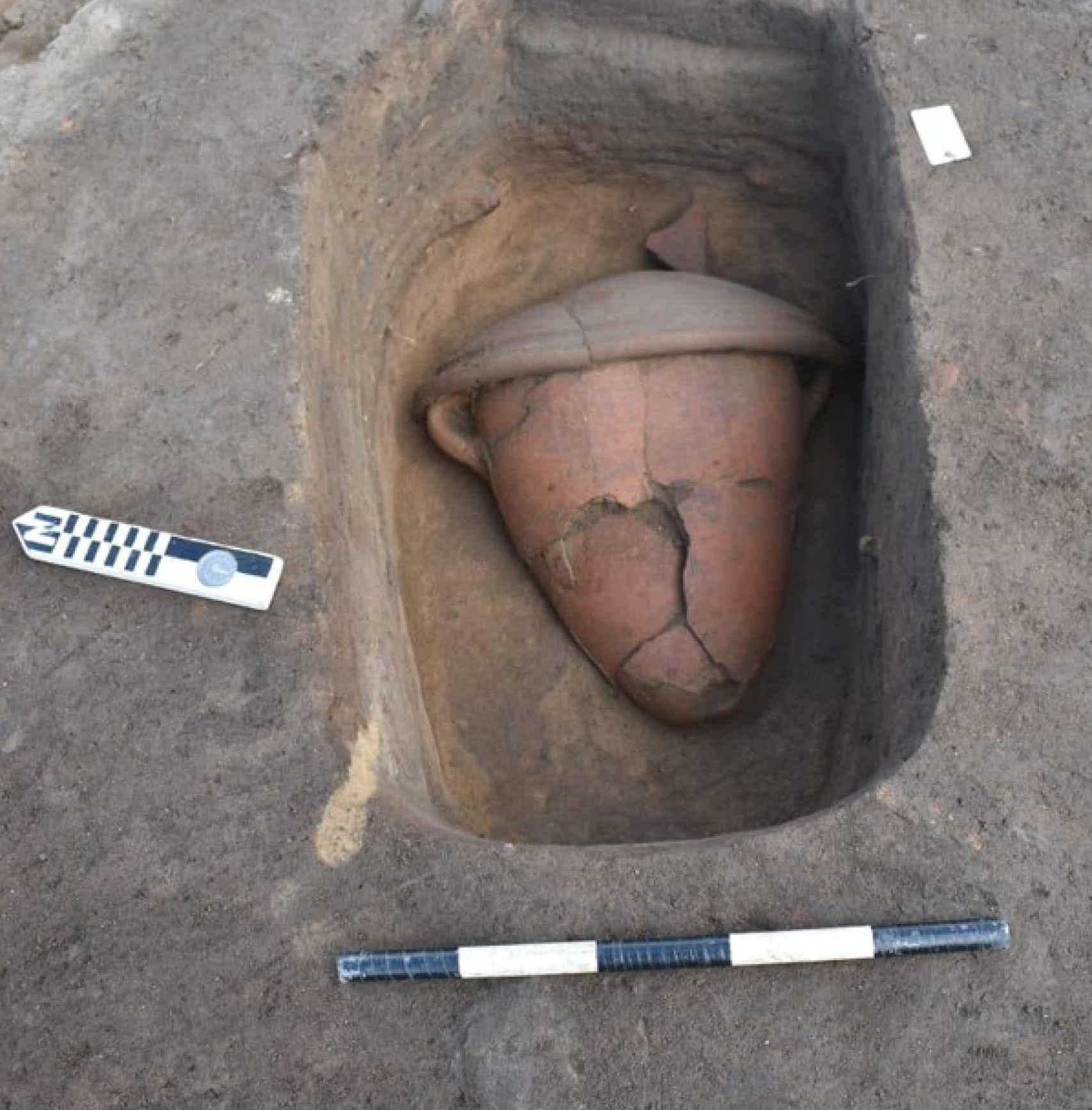 Uno de los objetos de cerámica identificados.