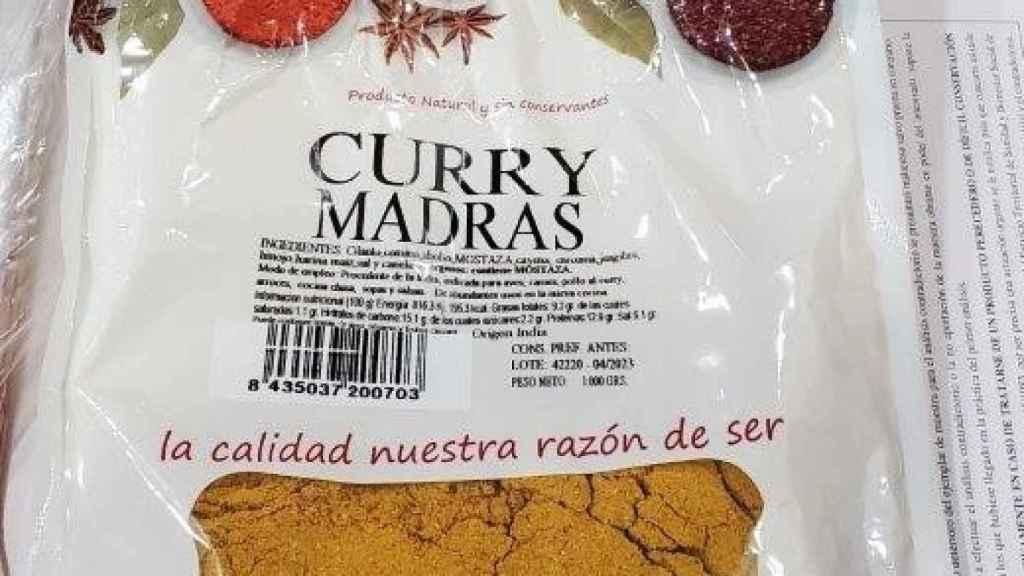 El curry sobre el que ha lanzado la alerta la Aesan.