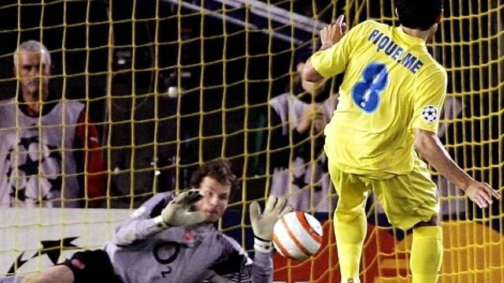 Riquelme y su penalti contra el Arsenal