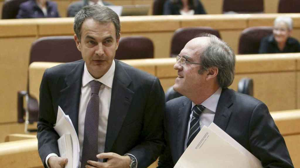 Zapatero y Gabilondo, cuando el segundo era ministro del primero.