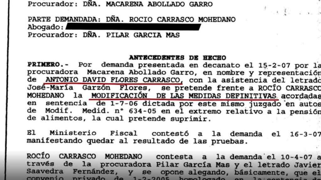 Imagen de la nueva modificación de medidas contra Carrasco.