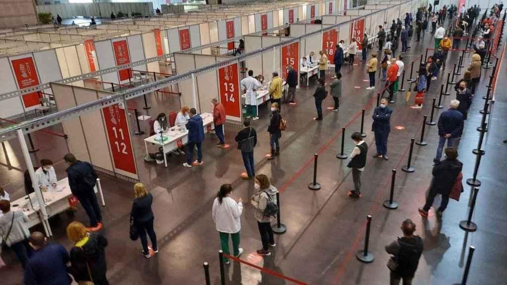 Imagen de la Ciudad de la Luz, un centro de vacunación masiva.