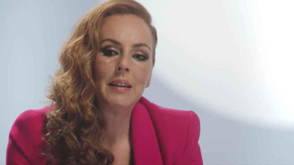 Rocío Carrasco durante la grabación del episodio 8 de 'Rocío: contar la verdad para seguir viva'.