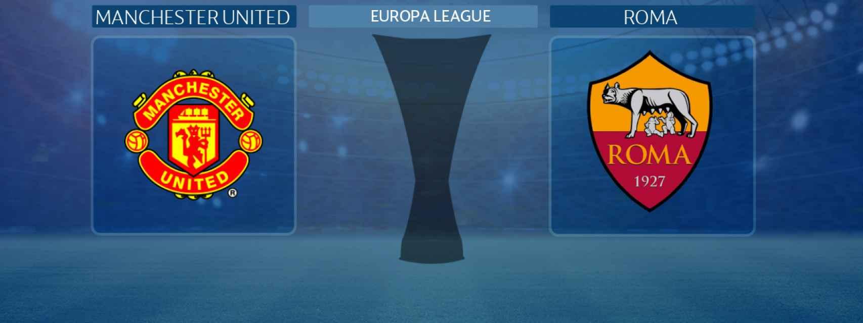 Manchester United - Roma, partido de la Europa League