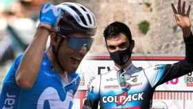 Alejandro Valverde y Juan Ayuso, en un fotomontaje