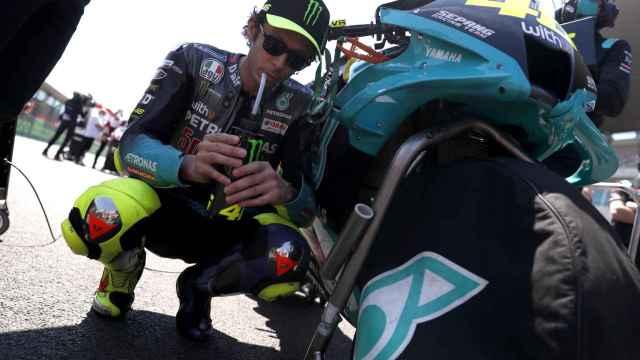 Valentino Rossi, antes de una carrera de MotoGP en 2021