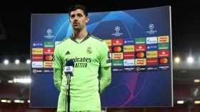 Courtois, tras un partido de la Champions League