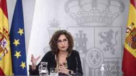 La ministra de Hacienda, María Jesús Montero, este martes en rueda de prensa. Foto: Europa Press