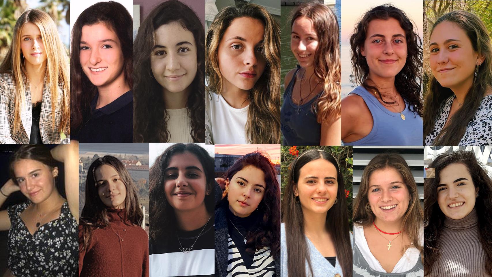 Las 14 chicas con un 10 de nota media elegidas para la Beca Europa.