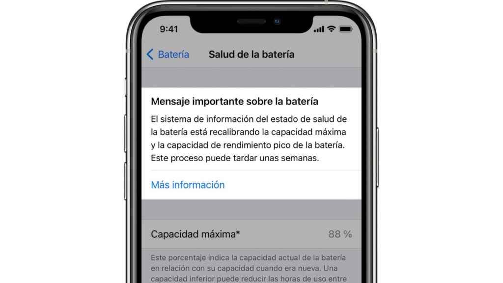 Mensaje de iOS 14.5