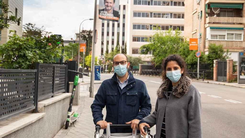Álvaro y Lorena, en el barrio de Hispanoamérica.