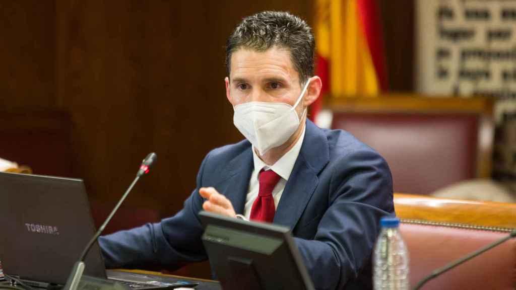 Eduardo Azanza (Veridas) durante su intervención en el Senado