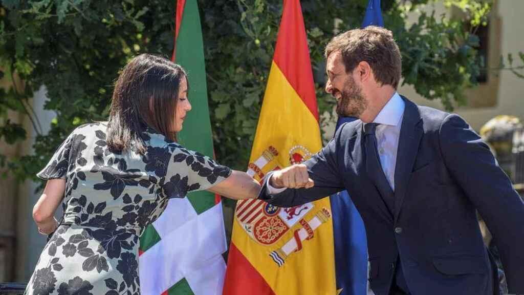 Arrimadas y Casado.