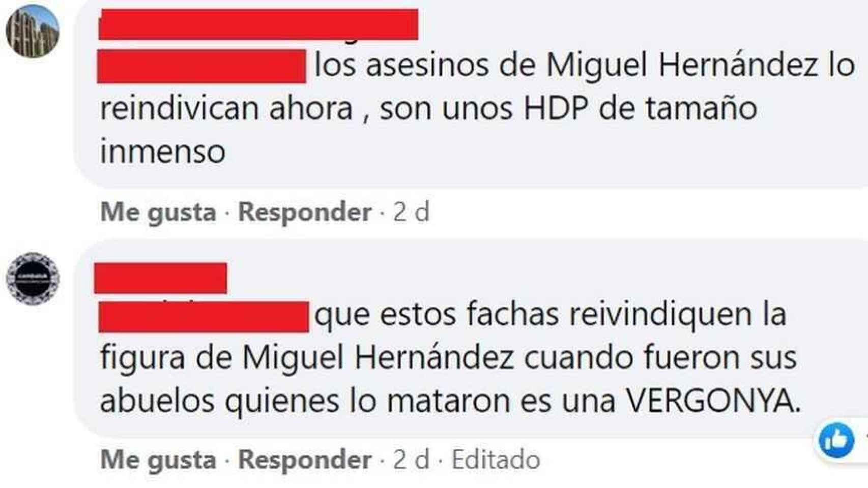 Insultos contra los ciudadanos de la Vega Baja en el muro de Facebook de A Punt.