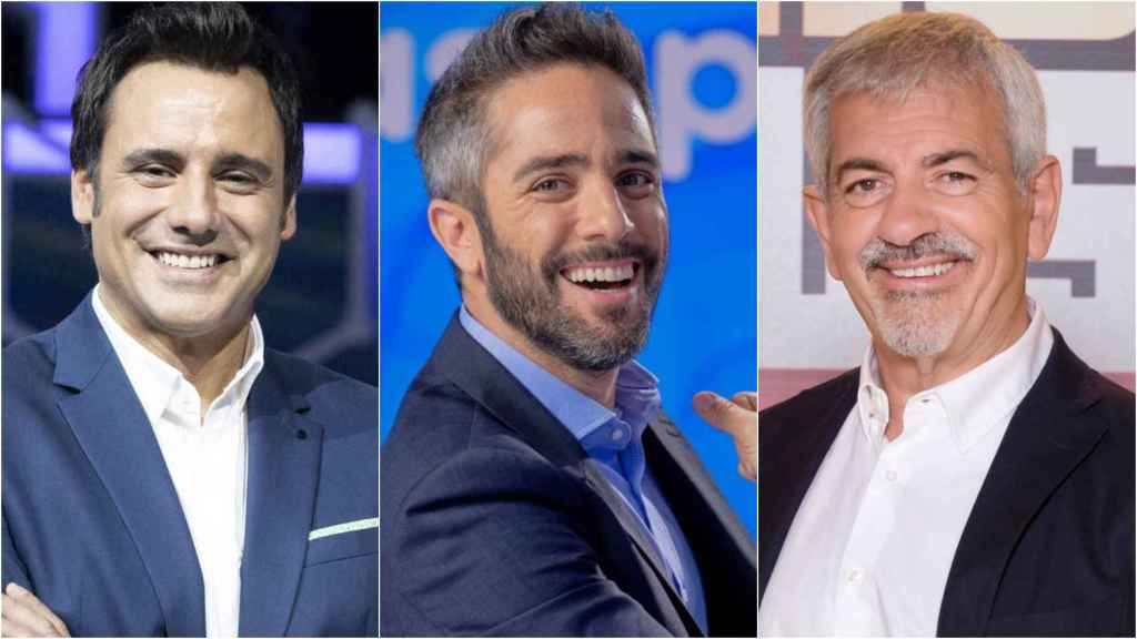 Ion Aramendi, Roberto Leal y Carlos Sobera en montaje de BLUPER.