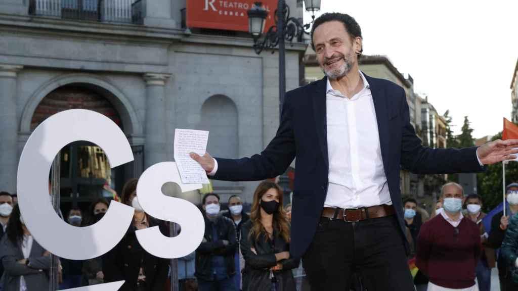 Edmundo Bal, durante la campaña de Ciudadanos en Madrid.