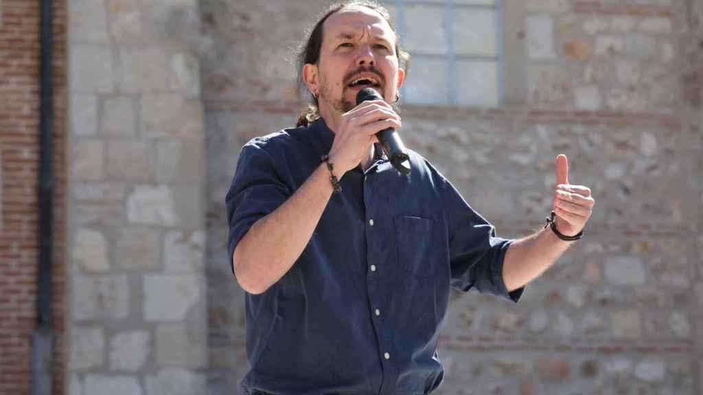 Pablo Iglesias, durante un acto electoral.