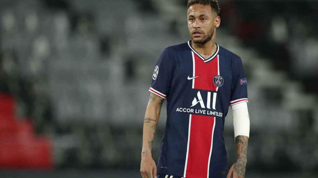 Neymar durante el partido de Champions contra el Manchester City