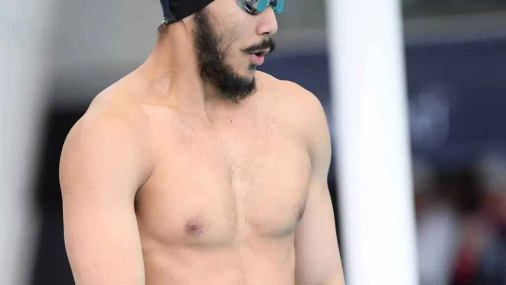 El nadador birmano Win Htet Oo