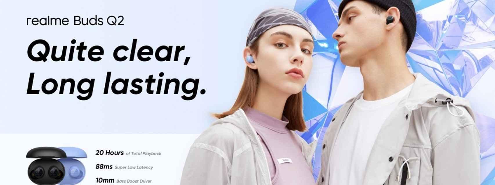 Nuevos realme Buds Q2: unos auriculares TWS con 20 horas de autonomía