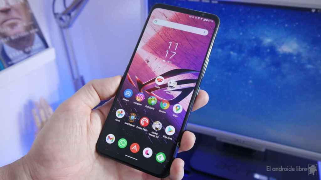 Interfaz del Asus ROG Phone 5