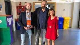 El diputado regional de Cs David Muñoz Zapata junto a Juan Carlos Girauta y Pilar Castellanos en una imagen de archivo