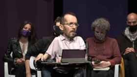 El portavoz de Unidas Podemos en el Congreso, Pablo Echenique, este jueves en un acto en Leganés.
