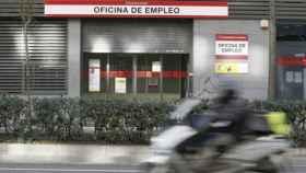 Oficina de empleo en Madrid.