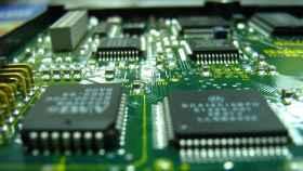 Detalle de los microchips de un aparato tecnológico.
