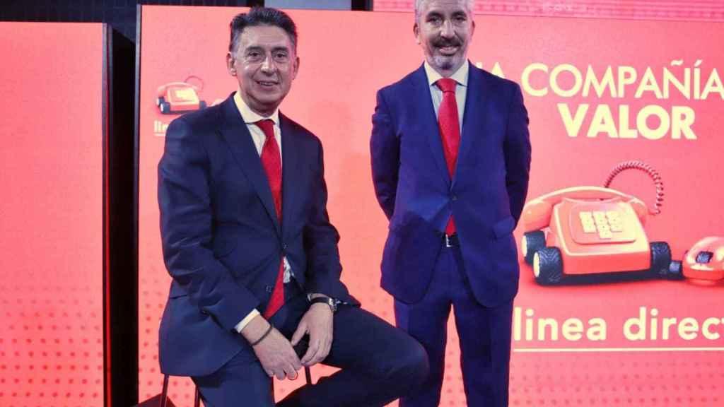 Miguel Ángel Merino y Carlos Rodríguez, consejero delegado y director financiero de Línea Directa.