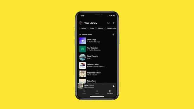 Nueva biblioteca de Spotify