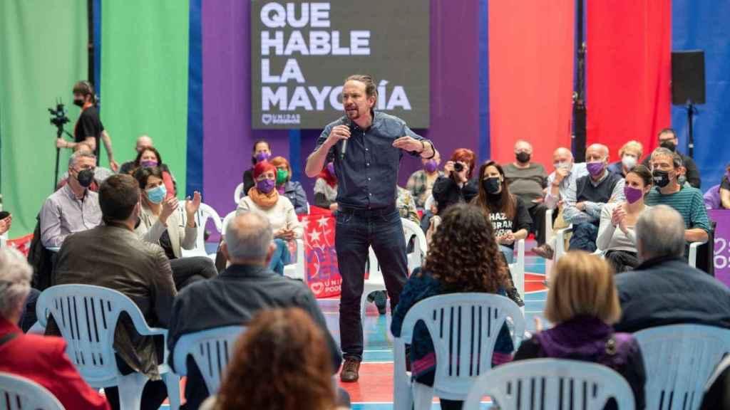 Pablo Iglesias en un acto de campaña.