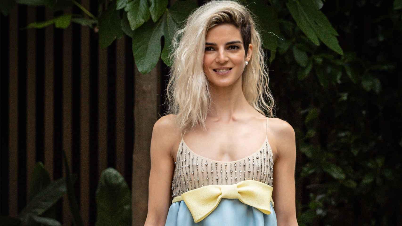 Clara Lago, durante la presentación de 'La Tormenta'.