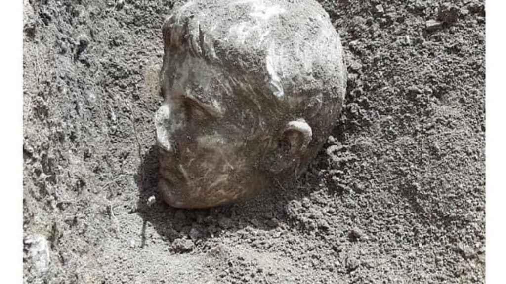 La cabeza de Augusto que ha salido a la luz en Isernia.