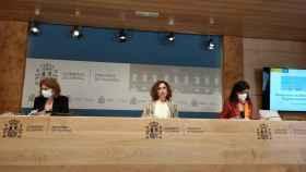 María Jesús Montero, ministra de Hacienda durante la presentación del Plan de Estabilidad.