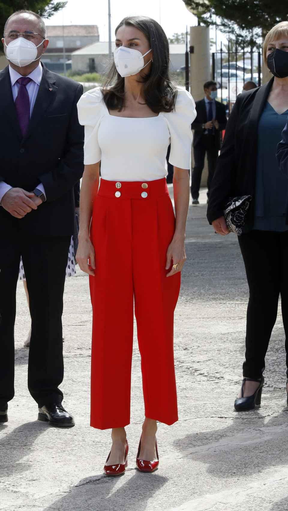 El 'outfit' que ha escogido la Reina para su último acto de la semana.