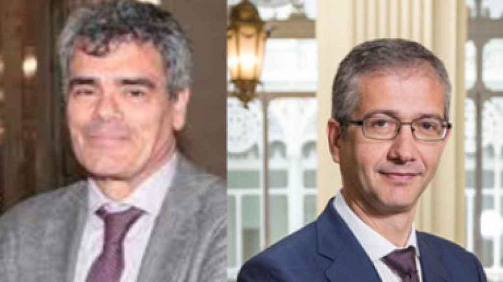 Ángel Estrada y Pablo Hernández de Cos.