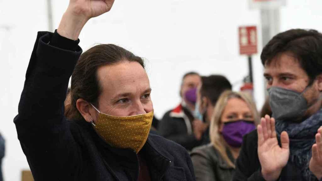 Iglesias, durante un acto de campaña.