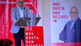 El alcalde y secretario general, Jesús Villar, en la pasada campaña municipal.