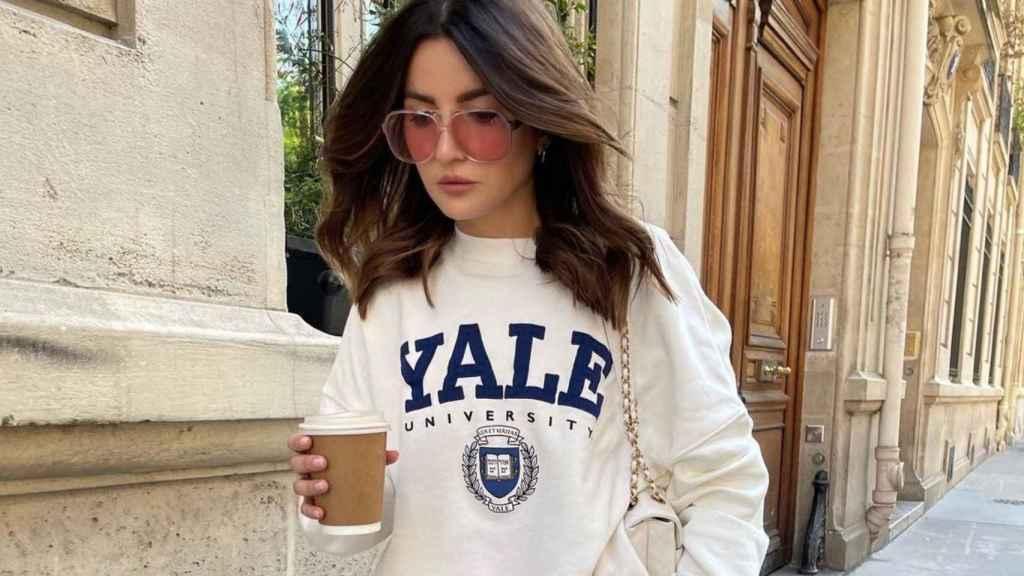 Alexandra Pereira se adelanta a la moda con su estilismo 'low-cost'.
