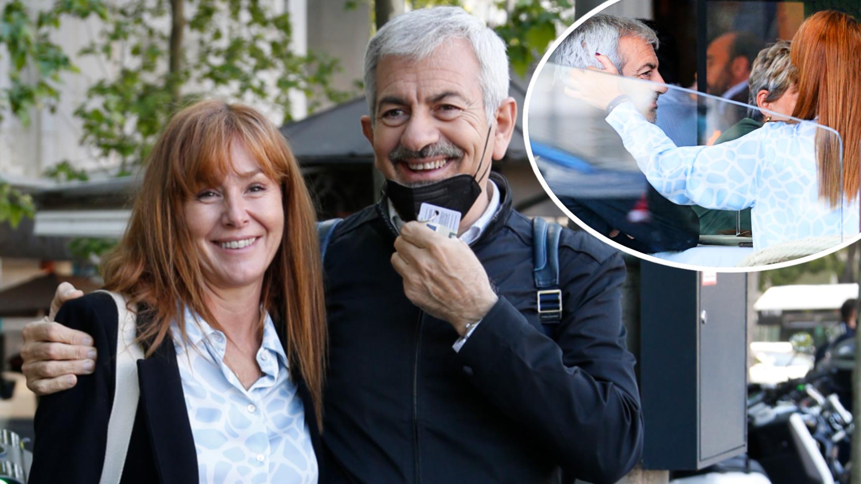 Carlos Sobera y su mujer, Patricia Santamarina, este jueves en Madrid.