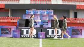TD Systems hizo un acto de entrega de productos al Atlético de Madrid Femenino