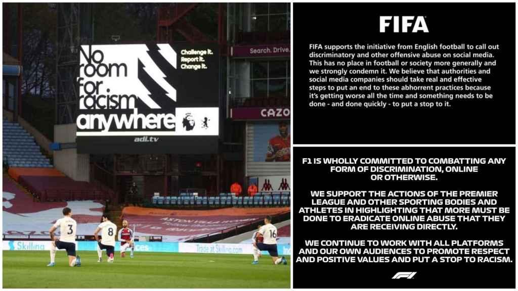 El boicot de la Premier League a las redes sociales por el racismo