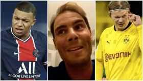 Rafa Nadal elige entre Mbappé y Haaland