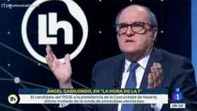 Ángel Gabilondo durante la entrevista.