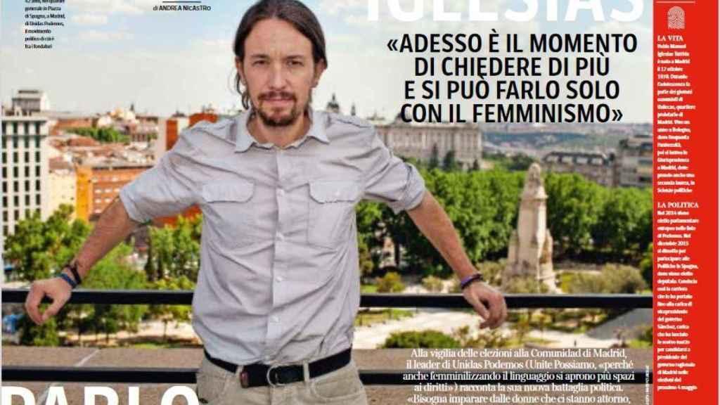 Pablo Iglesias, entrevistado este viernes en el diario italiano 'Corierre della Sera'.