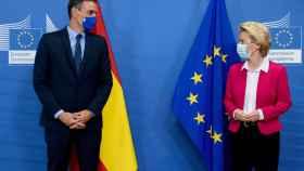 Pedro Sánchez  y Ursula von der Leyen, durante su última reunión en Bruselas en septiembre de 2020