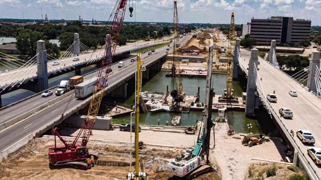 Imagen de la carretera I-35 en Texas.