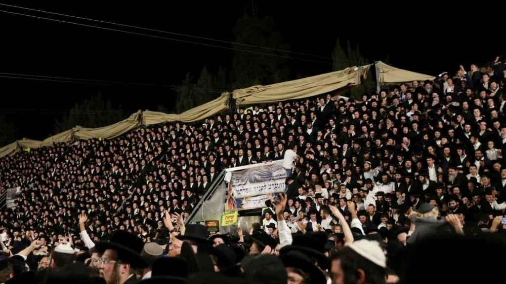 Imagen de la aglomeración previa a la tragedia en Israel.