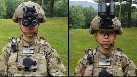 Diferentes posiciones de las gafas